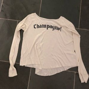 Wildfox white long sleeve small